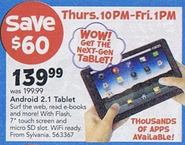 Sylvania 7-inch Linux Tablet