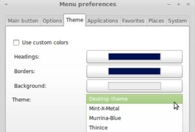 Linux Mint 10 Main Menu GTK Themes